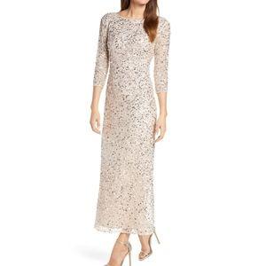 NWT-Sequin Mesh Gown PISARRO NIGHTS